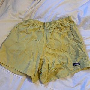 Yellow Patagonia Women's Baggies Shorts